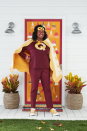 "<p>Love to knit, quilt, and crochet? Save the day—er, the ""crafter-noon,"" if you will—with this epic costume. It's right up your alley.</p><p><strong>Make the Costume: </strong>Cut a quilt into a trapezoid shape; sew a corresponding color bias tape around the edges to finish. At the top corner of the trapezoid, sew a corresponding color ribbon for ties. Use a scrap of the quilt to cut out an oversize letter ""Q"" and blanket stitch it to the front of a T-shirt. Blanket stitch around the edges of a felt superhero mask and round out the look with a tailor tape measure bracelet adorned with sewing charms. Glue a metal thimble to a silver ring blank to create a superpower ring.</p><p><a class=""link rapid-noclick-resp"" href=""https://www.amazon.com/dp/B074VZX55Z/ref=sspa_dk_detail_5?tag=syn-yahoo-20&ascsubtag=%5Bartid%7C10050.g.4571%5Bsrc%7Cyahoo-us"" rel=""nofollow noopener"" target=""_blank"" data-ylk=""slk:SHOP FELT SUPERHERO MASKS"">SHOP FELT SUPERHERO MASKS</a></p>"