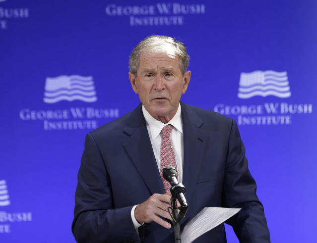 Former President George W. Bush speaks in New York City, Oct. 19. (Photo: Seth Wenig/AP)
