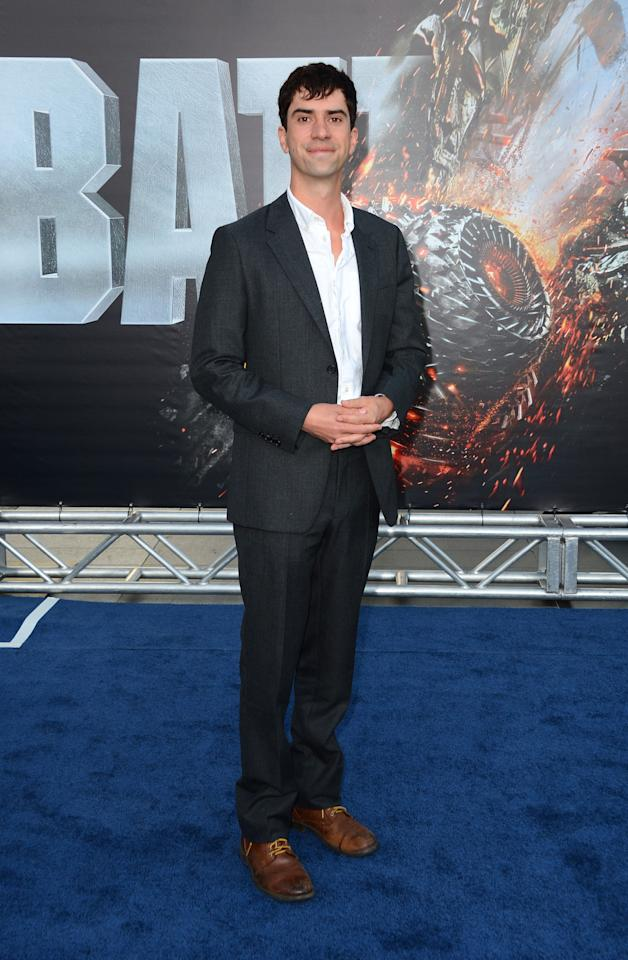 """LOS ANGELES, CA - MAY 10:  Actor Hamish Linklater arrives at the Premiere Of Universal Pictures' """"Battleship"""" at The Nokia Theatre L.A. Live on May 10, 2012 in Los Angeles, California.  (Photo by Frazer Harrison/Getty Images)"""