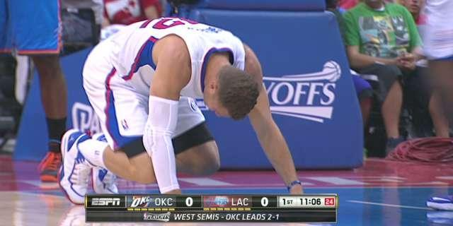 Serge Ibaka calls hit to Blake Griffin's groin an 'accident;' NBA to review (Video)