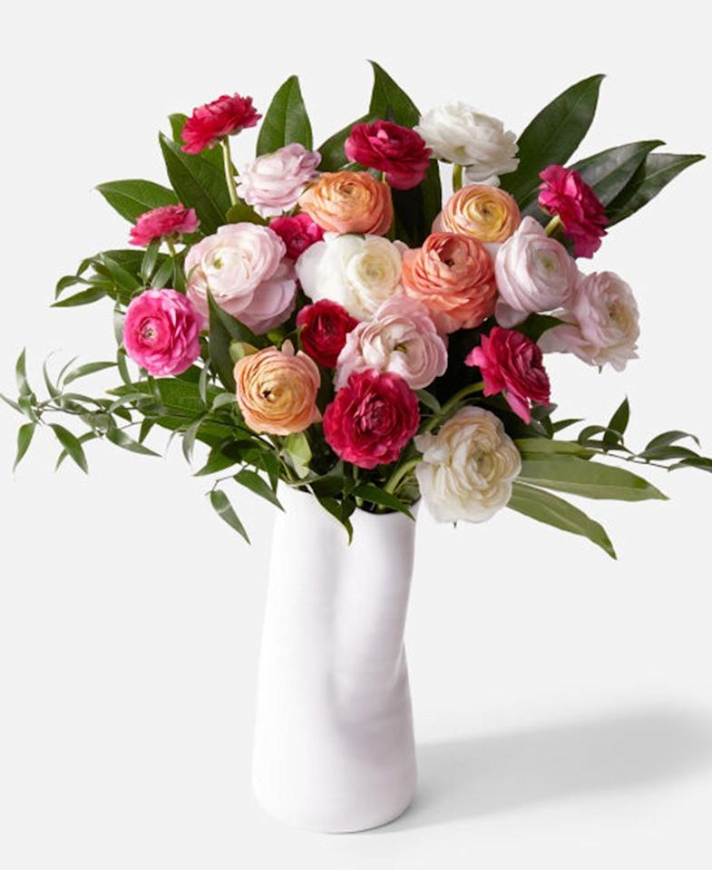"""If you're sending a bouquet to their office, get it from Urbanstems. From the brightly patterned flower box to the glossy, abstract vase, this """"Minimalist"""" bouquet is anything but. $150, Urban Stems. <a href=""""https://urbanstems.com/products/flowers/the-minimalist/FLRL-K-00044.html"""">Get it now!</a>"""