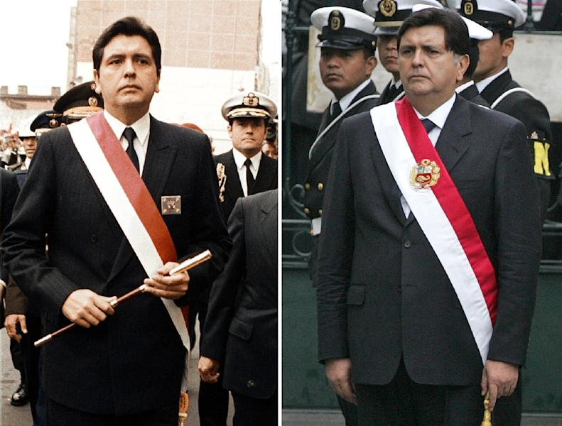 Garcia on the day he took office for the first time in July 1985 (L) and on his second inauguration in July 2006 (AFP Photo/STF)