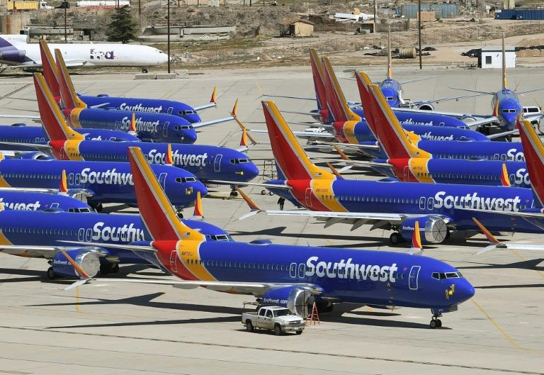 Carriers worldwide including Southwest Airlines have grounded the Boeing 737 MAX since March (AFP Photo/Mark RALSTON)