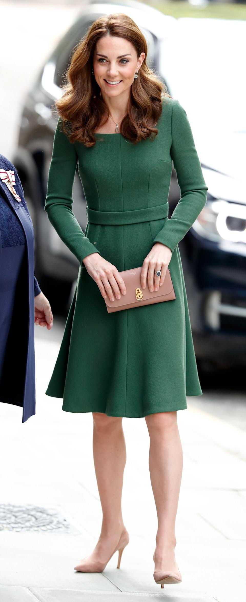 The duchess arrives to officially open the new Anna Freud Centre Of Excellence in London on May 1.