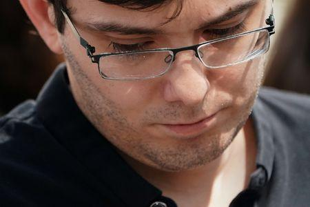 Former drug company executive Martin Shkreli exits U.S. District Court after being convicted of securities fraud in the Brooklyn borough of New York City