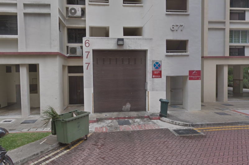A man's body was found on 12 August 2019 at the ground floor of Block 677 Woodlands Avenue 6, near the rubbish chute. (PHOTO: Screenshot/Google Street View)
