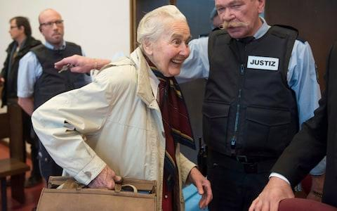 Ursula Haverbeck, in court accused of hate speech in 2017 - Credit: Bernd Thissen/AP