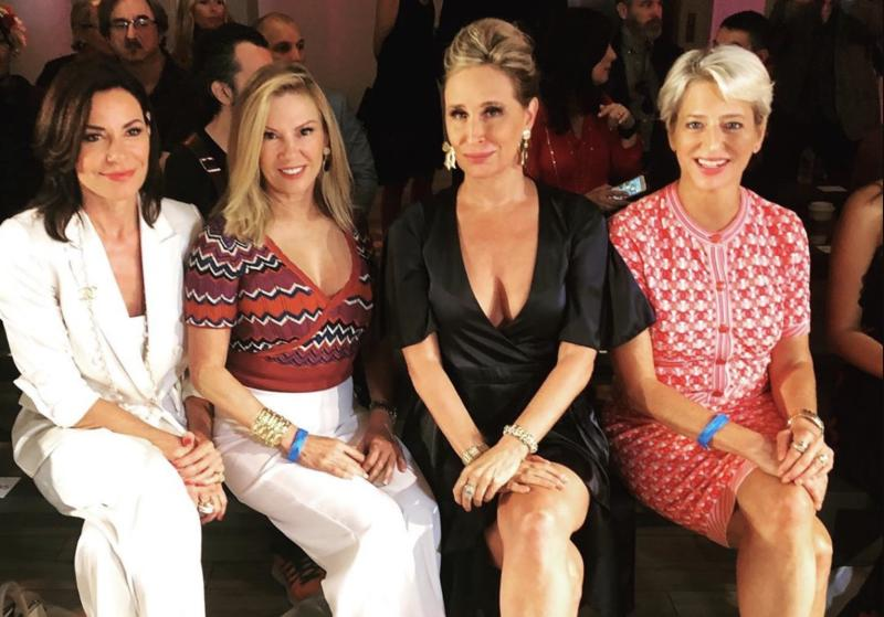 Luann de Lesseps, Ramona Singer, Sonja Morgan and Dorinda Medley attend New York Fashion Week. (Photo: Sonja Morgan via Instagram)