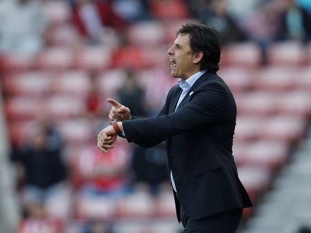 File Photo: Soccer Football - Championship - Sunderland v Burton Albion - Stadium of Light, Sunderland, Britain - April 21, 2018 Sunderland manager Chris Coleman reacts Action Images/Lee Smith