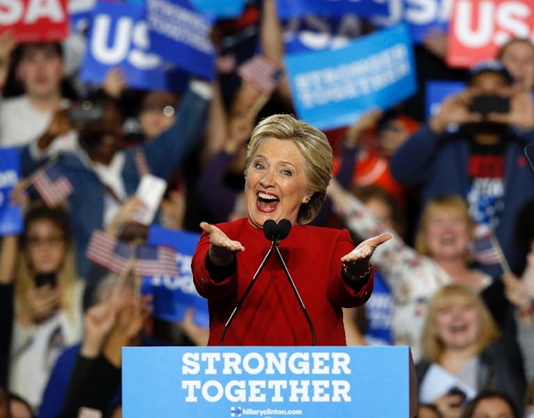 Hillary Clinton lost by around 20,000 votes in Wisconsin, 70,000 votes in Pennsylvania and 10,000 votes in Michigan (AFP Photo/Jeff Kowalsky)