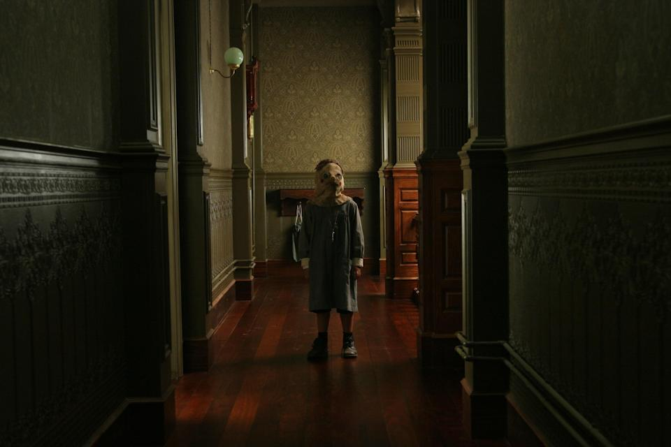 "<p>Just look at that picture and tell us you're not already completely scared out of your mind. It gets even creepier when you find out what the movie is actually about: A woman who returns to the orphanage she grew up in with her own adopted son…but soon after they settle in, he disappears. </p> <p><a href=""https://www.amazon.com/Orphanage-Geraldine-Chaplin/dp/B00150OTCE"" rel=""nofollow noopener"" target=""_blank"" data-ylk=""slk:Available to rent on Amazon Prime Video"" class=""link rapid-noclick-resp""><em>Available to rent on Amazon Prime Video</em></a></p>"