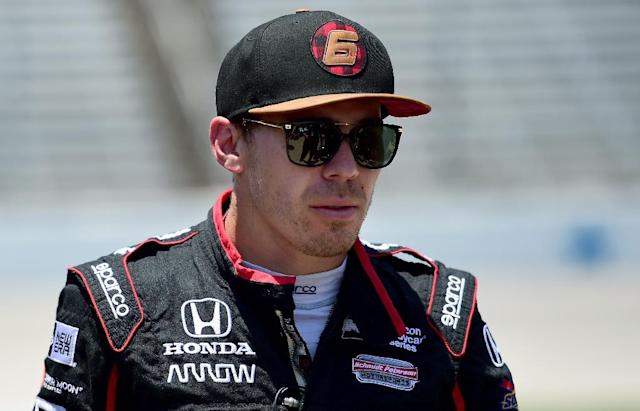 Robert Wickens was rushed to hospital by air ambulance after he collided with Ryan Hunter-Reay's IndyCar at Pocono Raceway in Long Pond, Pennsylvania (AFP Photo/Jared C. Tilton)