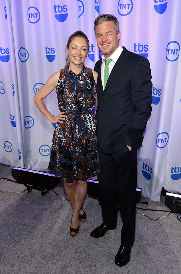 """Rebecca Gayheart and Eric Dane (""""The Last Ship"""") attend the 2013 TNT/TBS Upfront at Hammerstein Ballroom on May 15, 2013 in New York City."""