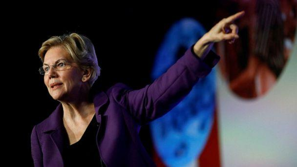 PHOTO: Democratic presidential candidate Massachusetts Sen. Elizabeth Warren attends the SEIU's Unions for All summit in Los Angeles, Ca., Oct. 4, 2019. (Eric Thayer/Reuters, FILE)