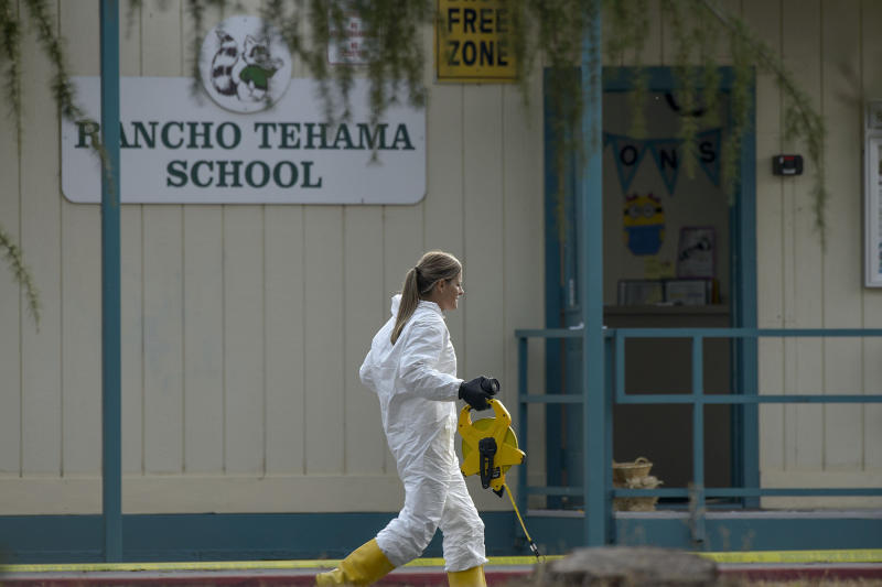 Neal was fatally shot by police while carrying out the attack. One stop made by the gunman was the Rancho Tehama Elementary School in Corning, California. (Sacramento Bee via Getty Images)