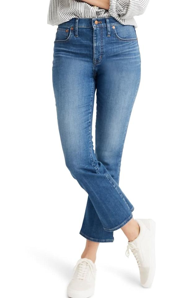 """<p>These cute <a href=""""https://www.popsugar.com/buy/Madewell-Eco-Edition-Cali-Demi-Boot-Jeans-483728?p_name=Madewell%20Eco%20Edition%20Cali%20Demi%20Boot%20Jeans&retailer=shop.nordstrom.com&pid=483728&price=70&evar1=fab%3Aus&evar9=46534481&evar98=https%3A%2F%2Fwww.popsugar.com%2Fphoto-gallery%2F46534481%2Fimage%2F46534493%2FMadewell-Eco-Edition-Cali-Demi-Boot-Jeans&list1=shopping%2Cnordstrom%2Cfall%20fashion%2Cfall%2Csustainable%20fashion&prop13=api&pdata=1"""" rel=""""nofollow"""" data-shoppable-link=""""1"""" target=""""_blank"""" class=""""ga-track"""" data-ga-category=""""Related"""" data-ga-label=""""https://shop.nordstrom.com/s/madewell-eco-edition-cali-demi-boot-jeans-tierney-wash/5167879?origin=category-personalizedsort&amp;breadcrumb=Home%2FSustainable%20Style&amp;color=tierney%20wash"""" data-ga-action=""""In-Line Links"""">Madewell Eco Edition Cali Demi Boot Jeans</a> ($70, originally $125) are perfect for the new season.</p>"""