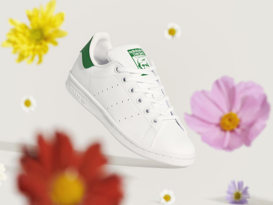 Stan Smith sneakers are getting a sustainable upgrade. Image courtesy of adidas.