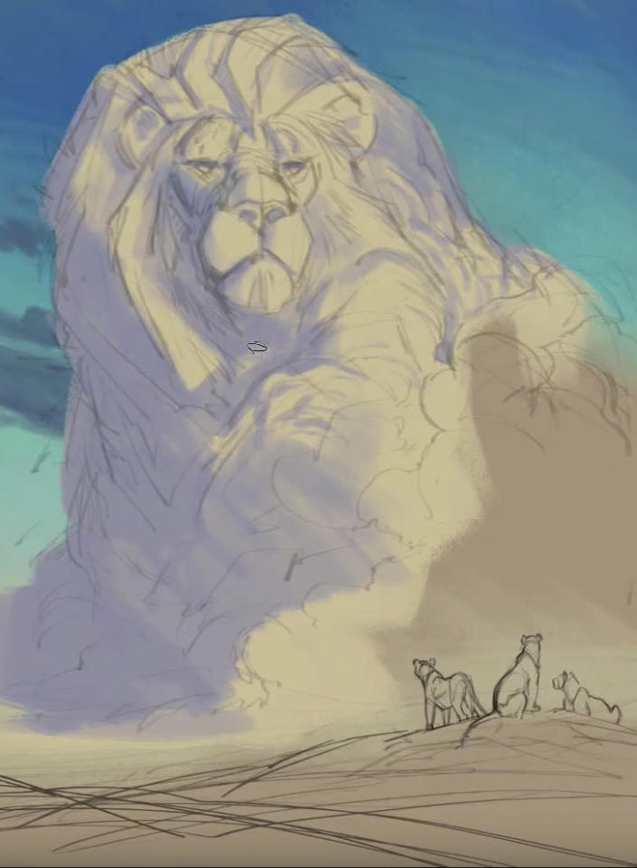 "<p>Including the lions looking up at Cecil's image recalls Mufasa's well-known quote from <i>The Lion King</i>, ""Look at the stars. The great kings of the past look down upon us from those stars."" Blaise includes the quote on one version of <a href=""https://creatureartteacher.com/product-category/merch/conservation-store/"" rel=""nofollow noopener"" target=""_blank"" data-ylk=""slk:the posters he's offering"" class=""link rapid-noclick-resp"">the posters he's offering</a>. (Credit: <a href=""https://creatureartteacher.com/"" rel=""nofollow noopener"" target=""_blank"" data-ylk=""slk:Aaron Blaise/CreatureTeacher"" class=""link rapid-noclick-resp"">Aaron Blaise/CreatureTeacher</a>)</p>"