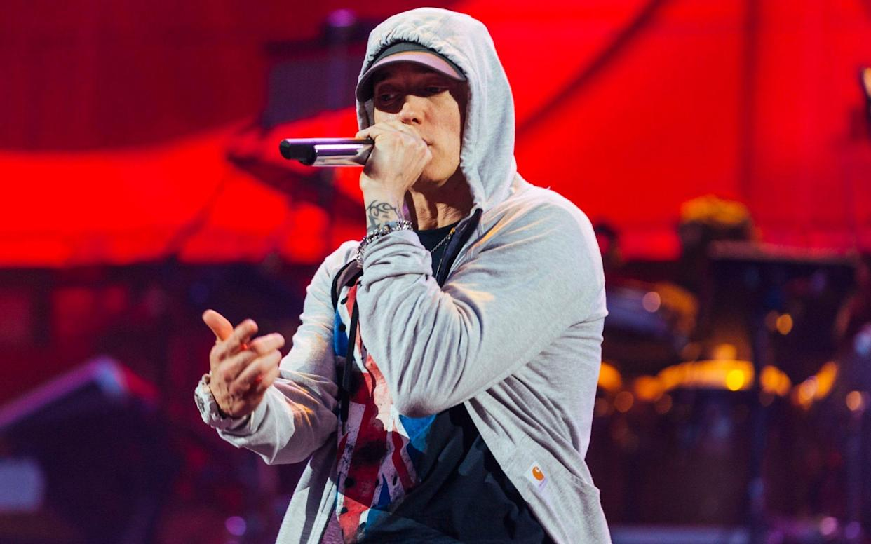Eminem at Wembley Stadium, 2014 - PA