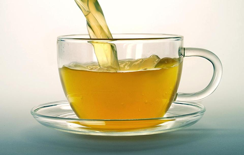 """<p>""""Green tea has incredible overall health benefits and it is my go-to. It really helps skin as well with all its antioxidants.""""</p>"""