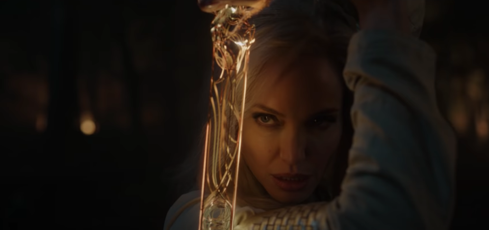 Angelina Jolie in Eternals (YouTube/Marvel Studios)