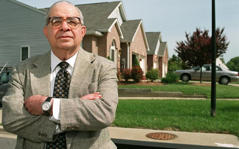 Gerald Shur, retired founder and longtime head of the Federal Witness Protection Program, at an undisclosed suburban location in 2002 - Greg Whitesell/Getty Images