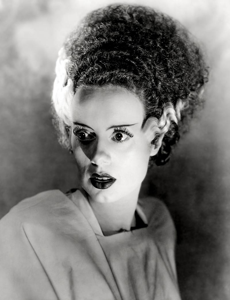"Actress Elsa Lanchester in a scene from the movie ""Bride of Frankenstein"" (Photo by Donaldson Collection/Getty Images)"