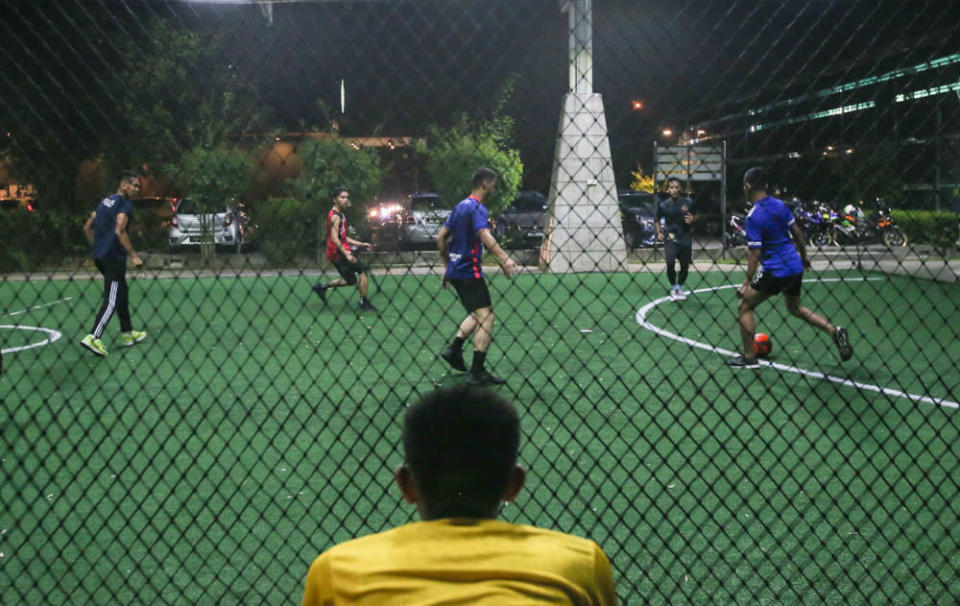 Futsal court owners around Ipoh are preparing to open their businesses as government allows indoor sports activities to resume in states in Phase 2 of the National Recovery Plan. — Picture by Farhan Najib