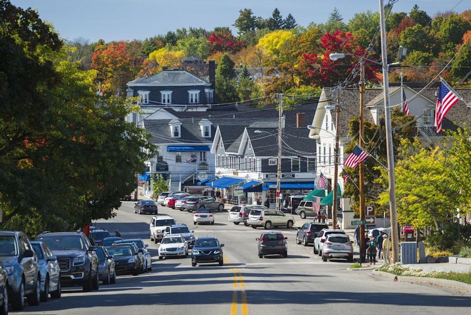 """<p><a href=""""https://www.tripadvisor.com/Tourism-g46278-Wolfeboro_New_Hampshire-Vacations.html"""" rel=""""nofollow noopener"""" target=""""_blank"""" data-ylk=""""slk:This town's"""" class=""""link rapid-noclick-resp"""">This town's</a> motto is """"The Oldest Summer Resort in America,"""" and its prime location on Lake Winnipesaukee proves why. People from all over New Hampshire, Boston and even Hollywood (Drew Barrymore once visited!) vacation here during warm summer months.</p>"""