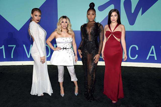 <p>The four members of Fifth Harmony — Dinah Jane, Ally Brooke, Normani Kordei, and Lauren Jauregui — opted not to coordinate their looks. (Photo: Getty Images) </p>