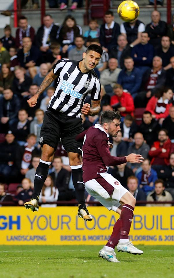Soccer Football - Heart of Midlothian vs Newcastle United - Pre Season Friendly - Edinburgh, Britain - July 14, 2017   Newcastle United's Aleksandar Mitrovic in action    Action Images via Reuters/John Clifton