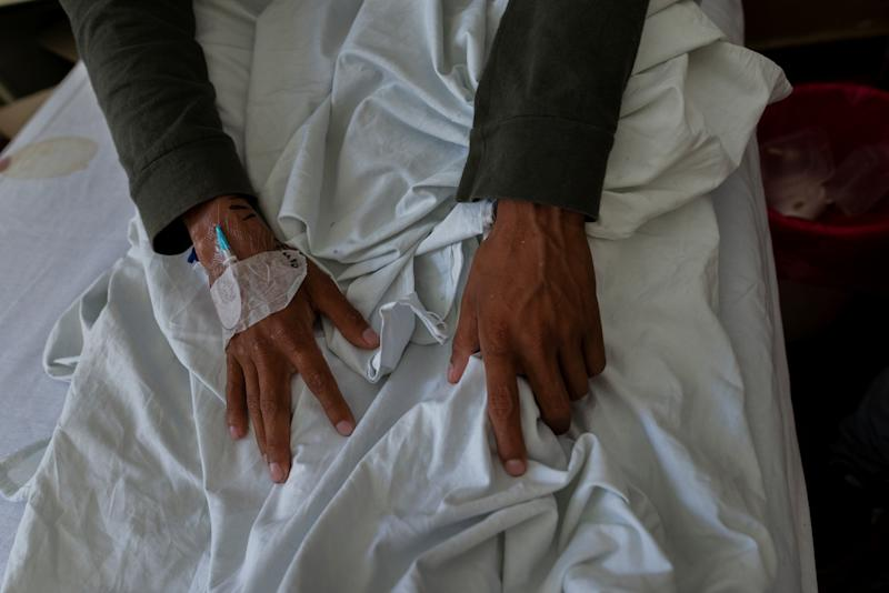 Arturo Maldonado, 25, who is from Peru, is treated for tuberculosis at the Muniz public hospital in Buenos Aires, Argentina Jan. 11, 2019. (Photo: Magali Druscovich/Reuters)