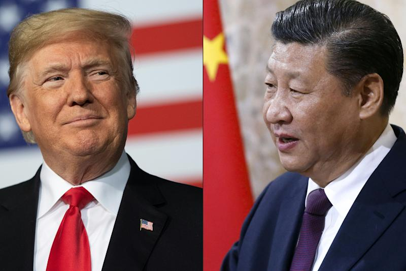 US president Donald Trump and China's president Xi Jinping. While the nations signed a preliminary trade deal in January 2020, some of the thorniest issues remain unsolved. Photos: Jim Watson and Peter Klaunzer / POOL/AFP via Getty