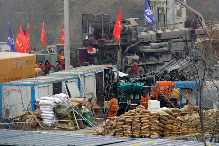 <p>Miners have been trapped inside the gold mine since an explosion on 10 January</p> (Reuters)