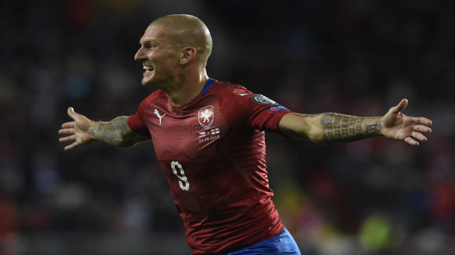 The striker came off the bench to score the winner for his country against the Three Lions in Prague