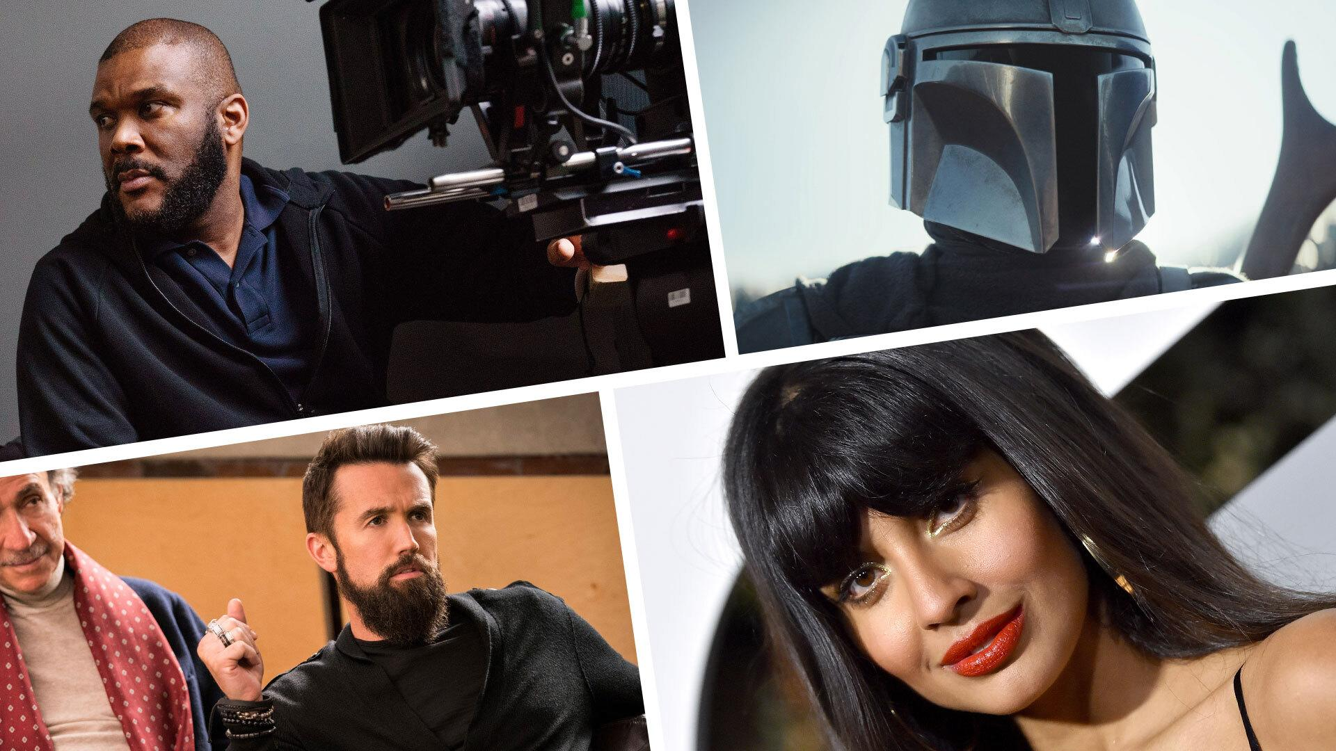Tyler Perry, The Mandalorian, Rob McElhenney and Jameela Jamil (Photo: Everett Collection/Getty Images)