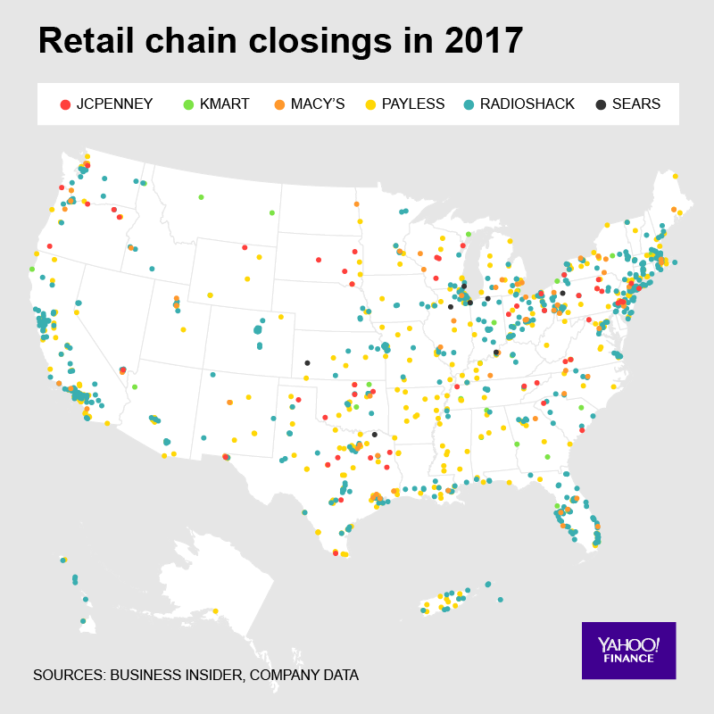 A staggering amount of U.S. retail stores closed in 2017 [Video]