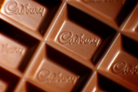 Embargoed to 0001 Wednesday March 5File photo dated 09/11/09 of a closeup of a Cadbury logo in a bar of Dairy Milk chocolate as Cadbury has been voted the UK's happiest brand, followed by British toilet roll company Andrex and search engine Google. PRESS ASSOCIATION Photo. Issue date: Wednesday March 5, 2014. Fairy detergents and Nivea took fourth and fifth place, followed by YouTube and Amazon, while Mars, Walkers and Heinz completed the top 10, the poll for advertising agency Isobel found. Meanwhile, the bottom 10 of the 100-strong ranking was littered with political parties, banks and the airline Ryanair. See PA story CONSUMER Happy. Photo credit should read: Dominic Lipinski/PA Wire