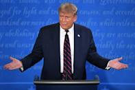US President Donald Trump speaks during the first presidential debate at Case Western Reserve University and Cleveland Clinic in Cleveland