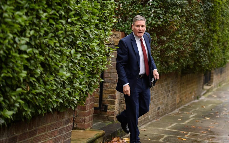 Mr Starmer leaving his home in North London on Thursday morning -  Getty Images Europe /LEON NEAL