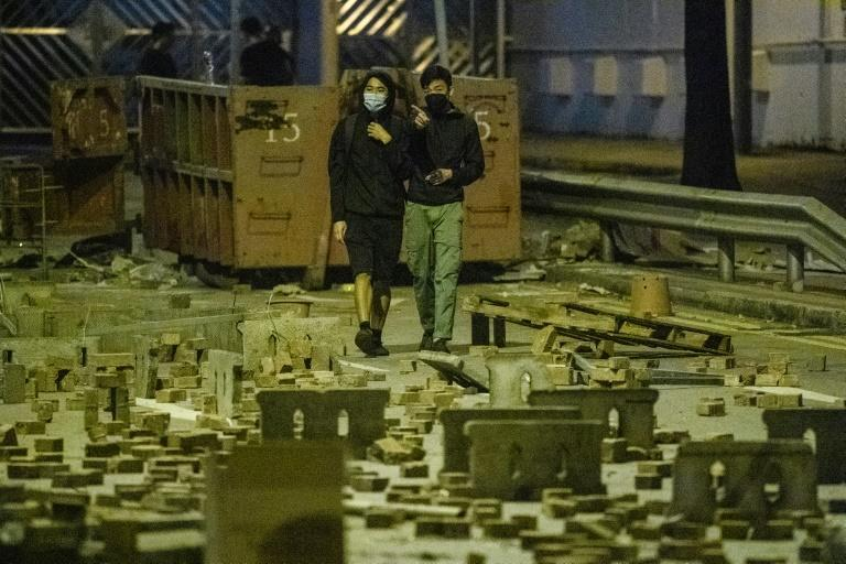 A rolling strike has crippled the transport system of the famously frenetic city (AFP Photo/ANTHONY WALLACE)