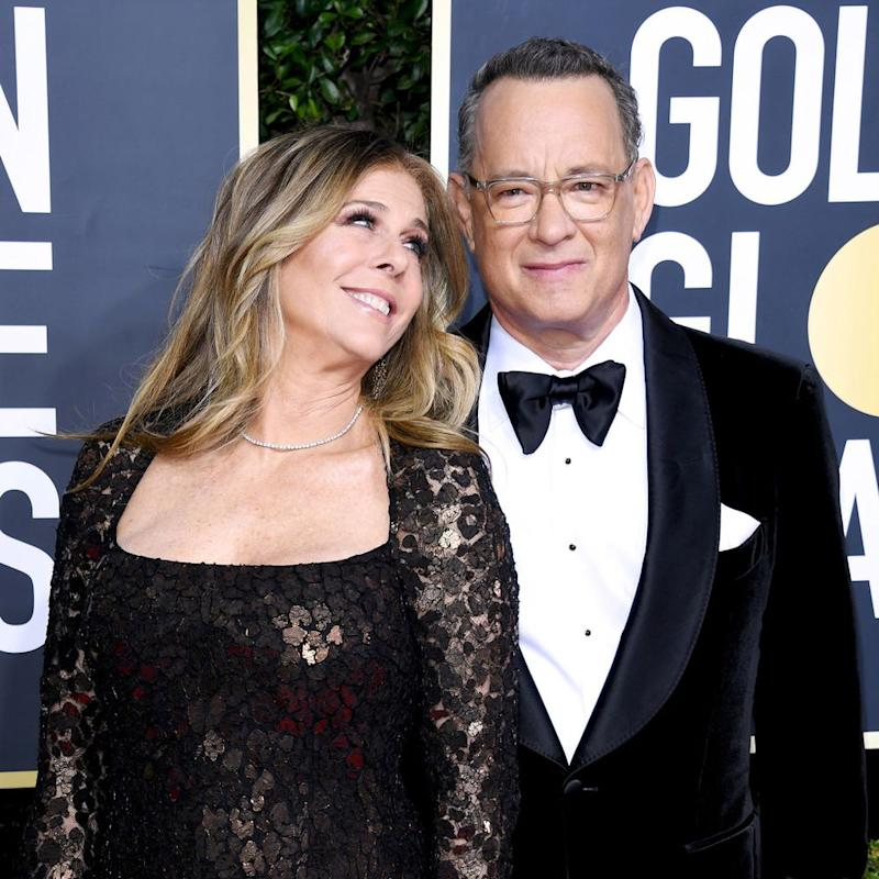 Rita Wilson and Tom Hanks at the 2020 Golden Globes | Daniele Venturelli/WireImage