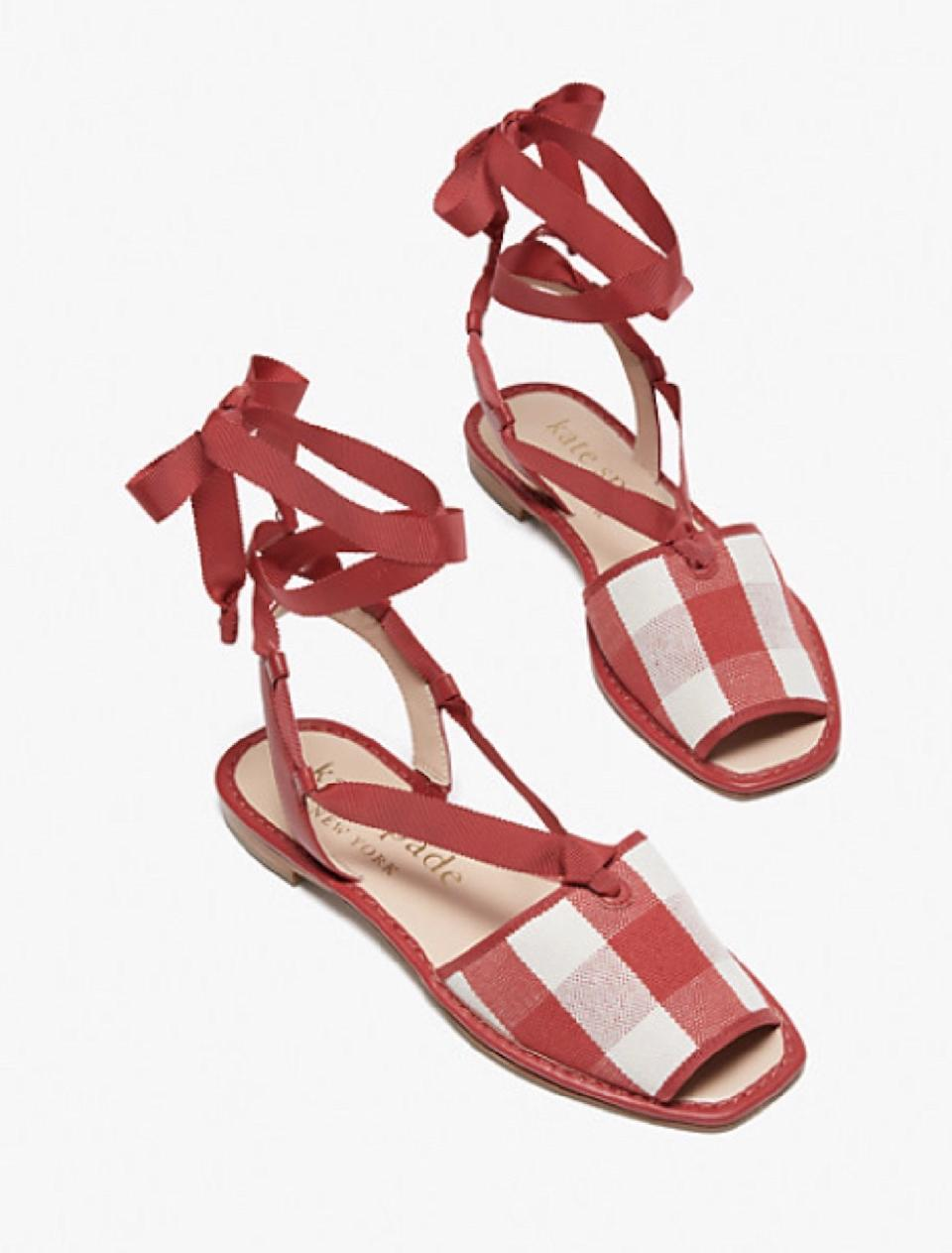 Every day is a picnic in your Maggie Sandals. (Photo: Kate Spade)