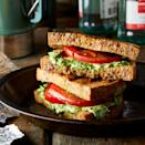 """<p>A twist on a classic grilled cheese, this caprese sandwich adds pesto and tomato for a quick and simple campsite meal. <a href=""""https://www.eatingwell.com/recipe/259078/campfire-caprese-grilled-cheese/"""" rel=""""nofollow noopener"""" target=""""_blank"""" data-ylk=""""slk:View Recipe"""" class=""""link rapid-noclick-resp"""">View Recipe</a></p>"""