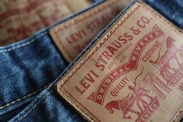 In this photo illustration Levi's 501 blue jeans by U.S. clothing manufacturer Levi Strauss are seen on March 8, 2018 in Berlin, Germany. U.S. President Donald Trump has promised to sign into law tariffs on imported steel and aluminum today and the European Commission has vowed to retaliate with tariffs on Levi's jeans, Kentucky bourbon and Harley-Davidson motorcycles. (Photo by Sean Gallup/Getty Images)