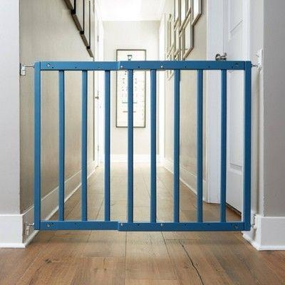 """<p><strong>Primetime Petz</strong></p><p>target.com</p><p><strong>$59.99</strong></p><p><a href=""""https://www.target.com/p/primetime-petz-smokey-safety-mate-baby-38-dog-gate/-/A-79803815"""" rel=""""nofollow noopener"""" target=""""_blank"""" data-ylk=""""slk:Shop Now"""" class=""""link rapid-noclick-resp"""">Shop Now</a></p><p>Add in a pop of color with this wooden gate for the top or bottom of your stairs.</p>"""