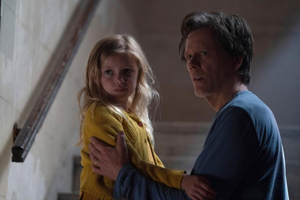 YOU SHOULD HAVE LEFT, from left: Avery Essex, Kevin Bacon, 2020. ph: Sarah Shatz / Universal Pictures / Courtesy Everett Collection