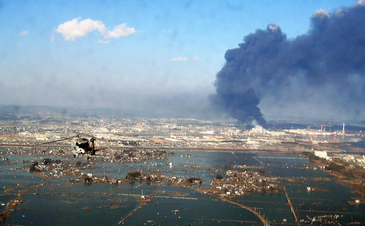 A magnitude 6.0 earthquake struck off the coast of Japan, seen here in 2011 after another temblor and tsunami, on October 6.