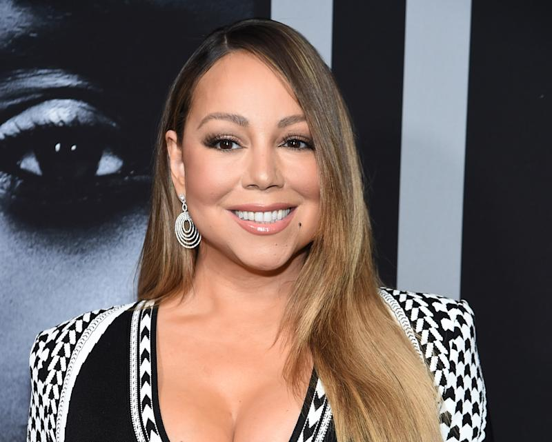 "NEW YORK, NEW YORK - JANUARY 13: Mariah Carey attends the premiere of Tyler Perry's ""A Fall From Grace"" at Metrograph on January 13, 2020 in New York City. (Photo by Jamie McCarthy/Getty Images)"