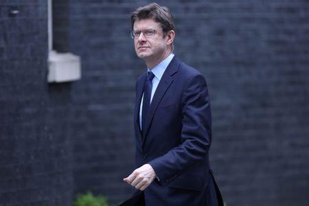 FILE PHOTO: Britain's Secretary of State for Business, Energy and Industrial Strategy Greg Clark arrives in Downing Street in London